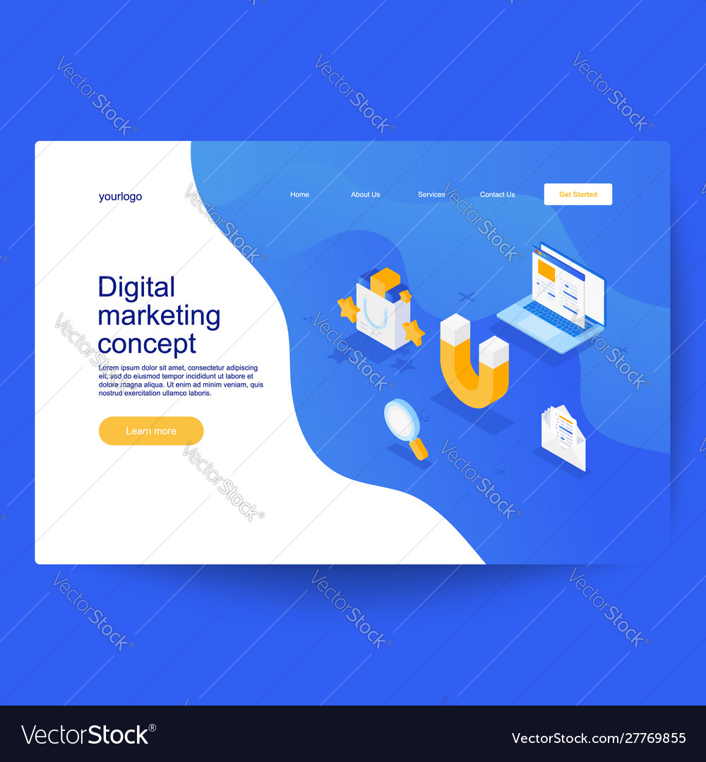 Digital marketing concept can use for for covers