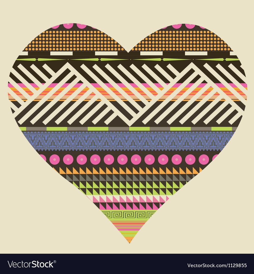 Ornamental heart valentine poster