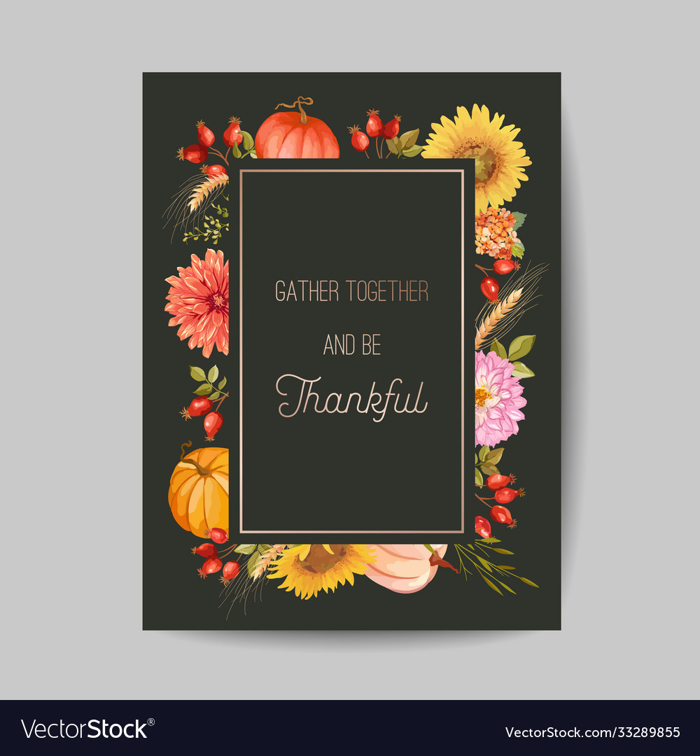 Thanksgiving day greeting invitation card flyer