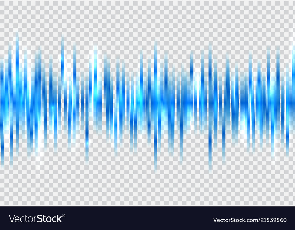 Abstract blue sound wave pattern elements with