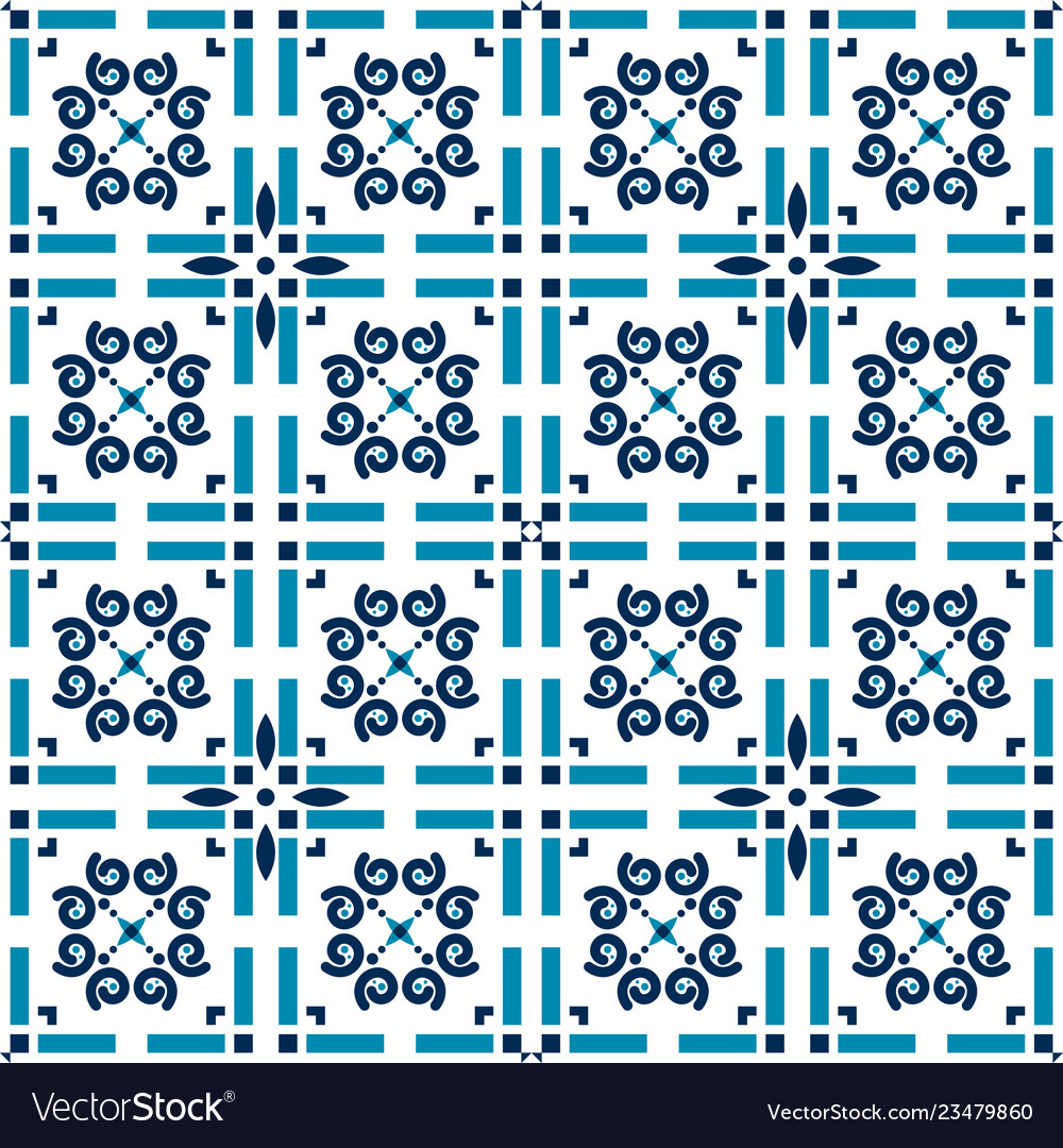 Azulejos tiles blue background geometric