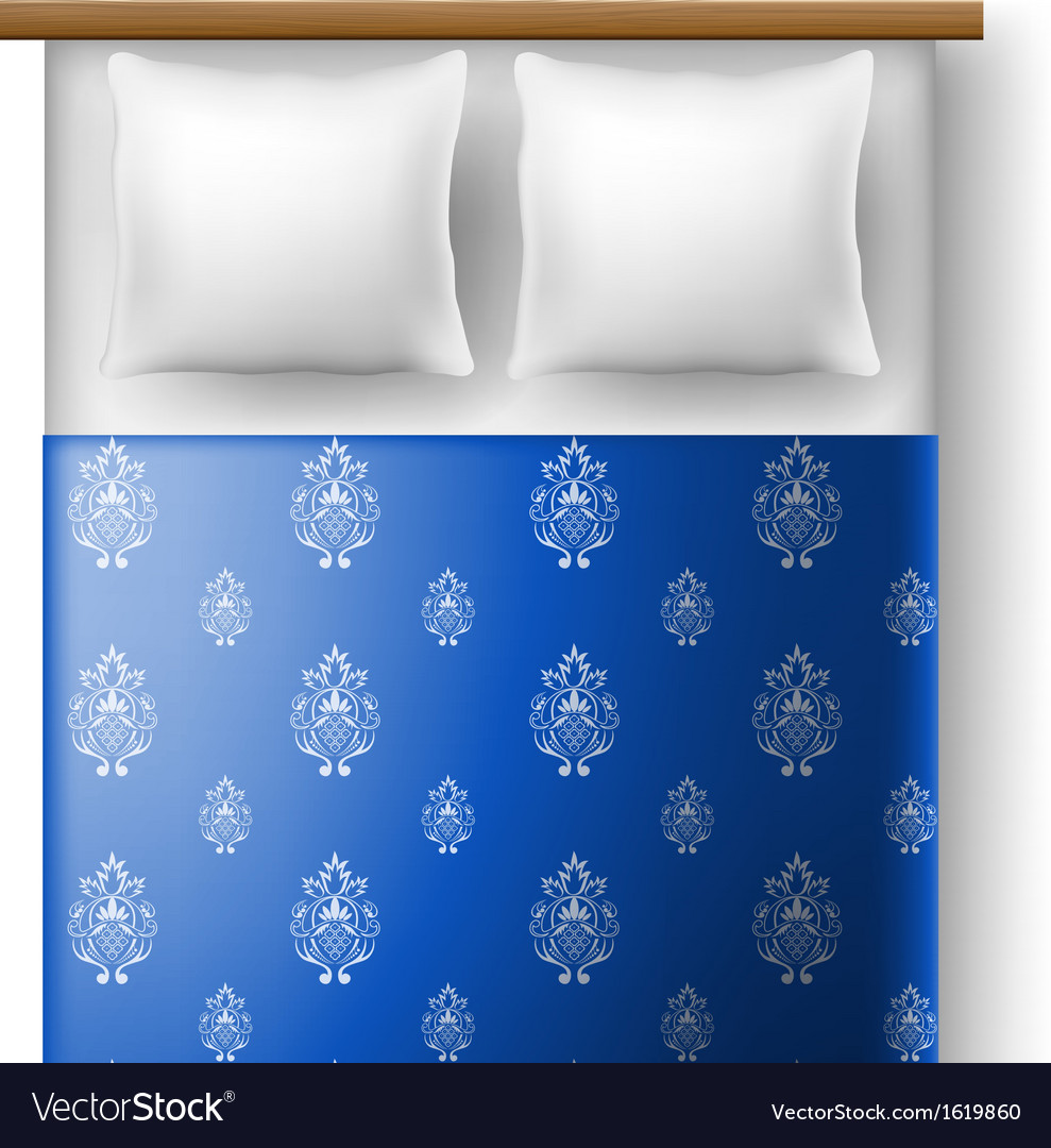 Bed top view Furniture Layout Bed From Top View With Pillows Vector Image Vectorstock Bed From Top View With Pillows Royalty Free Vector Image