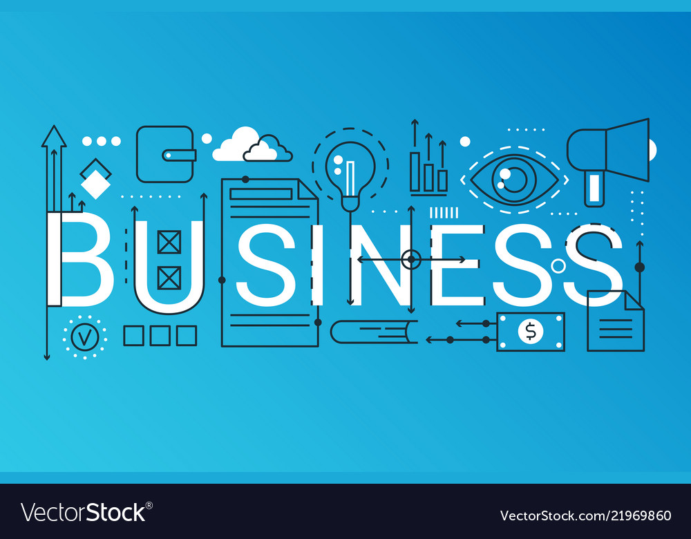 Business 2019 word trendy composition concept