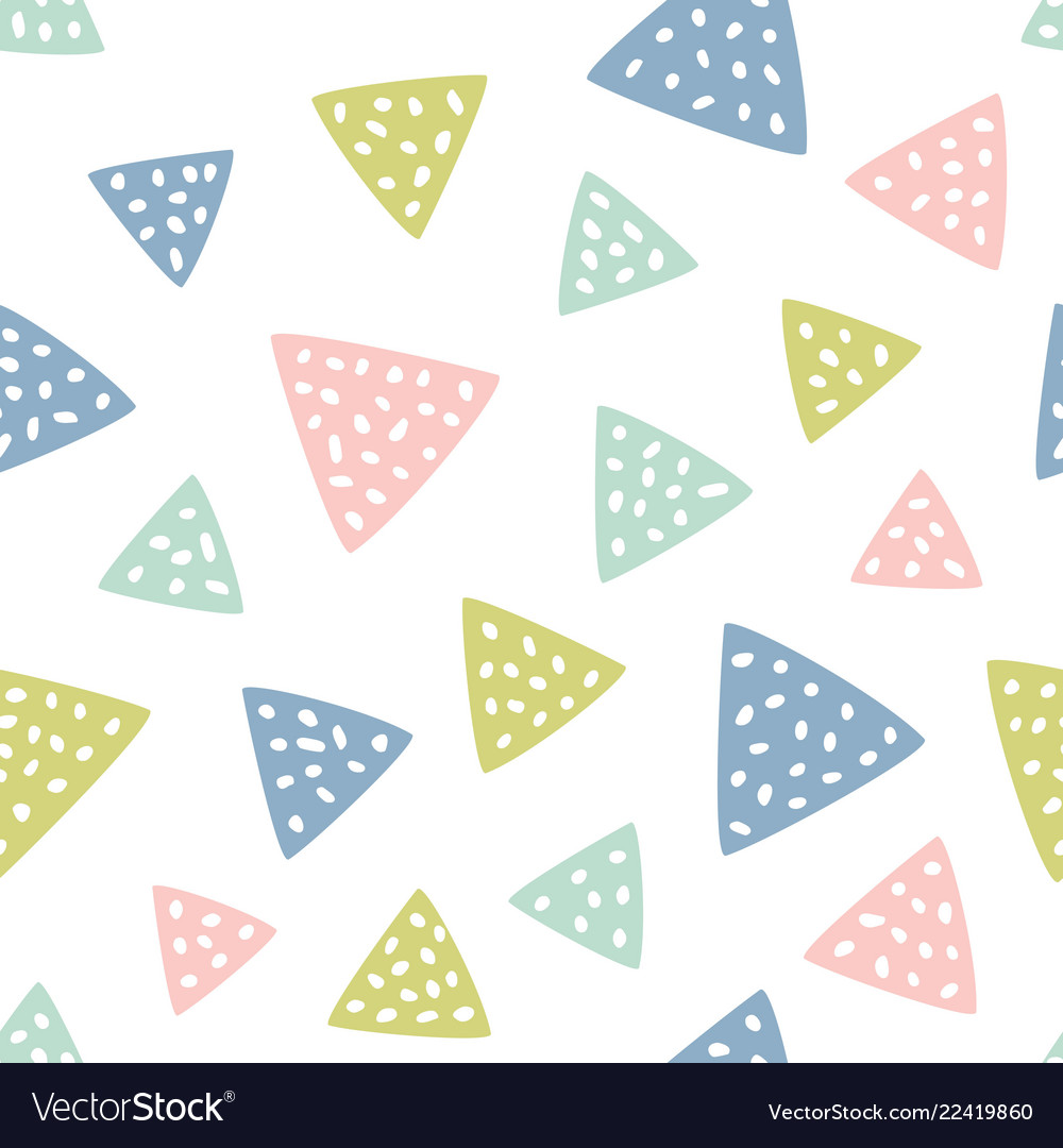Childish seamless pattern with triangles creative
