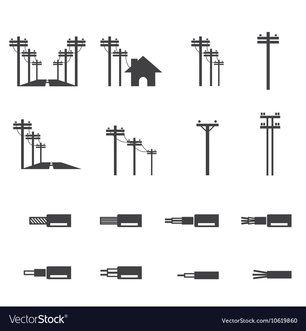 electricity post icon royalty free vector image