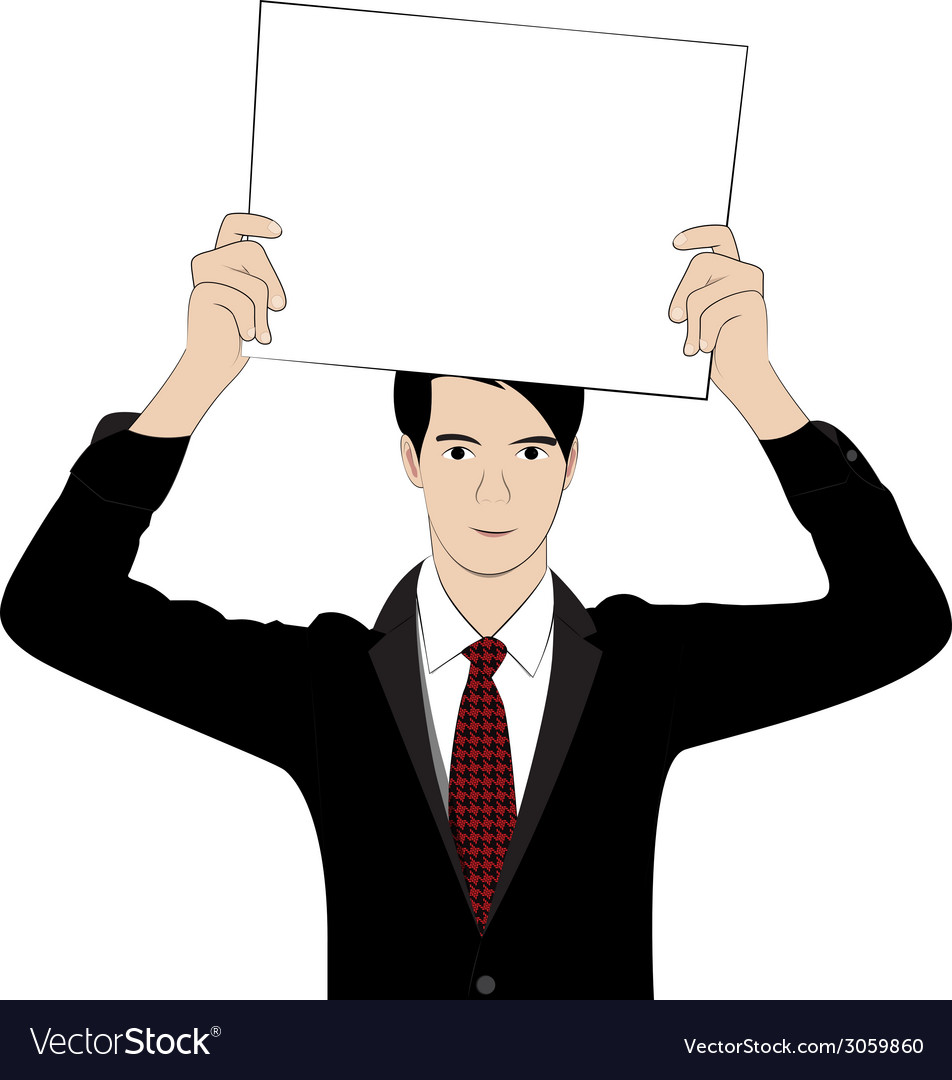Hold paper1 vector image
