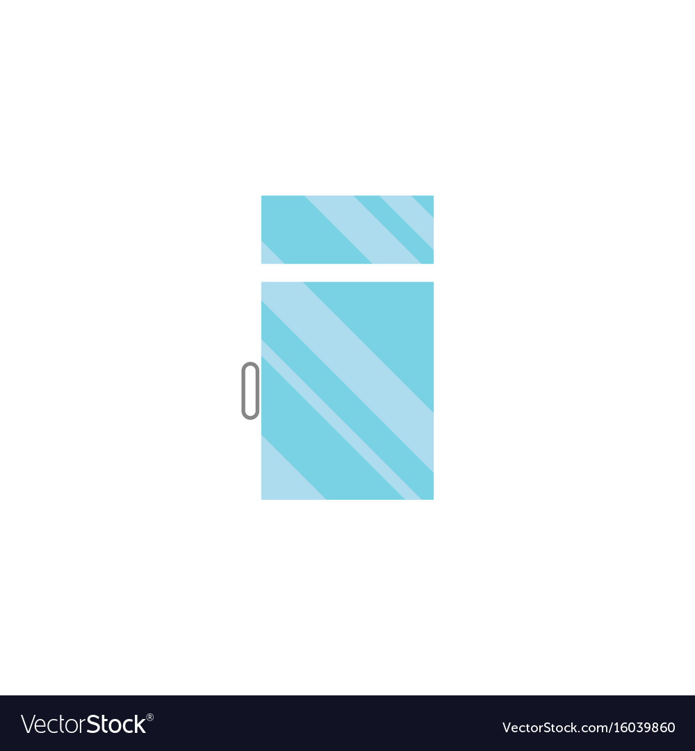 Isolated glass flat icon clean element can vector image