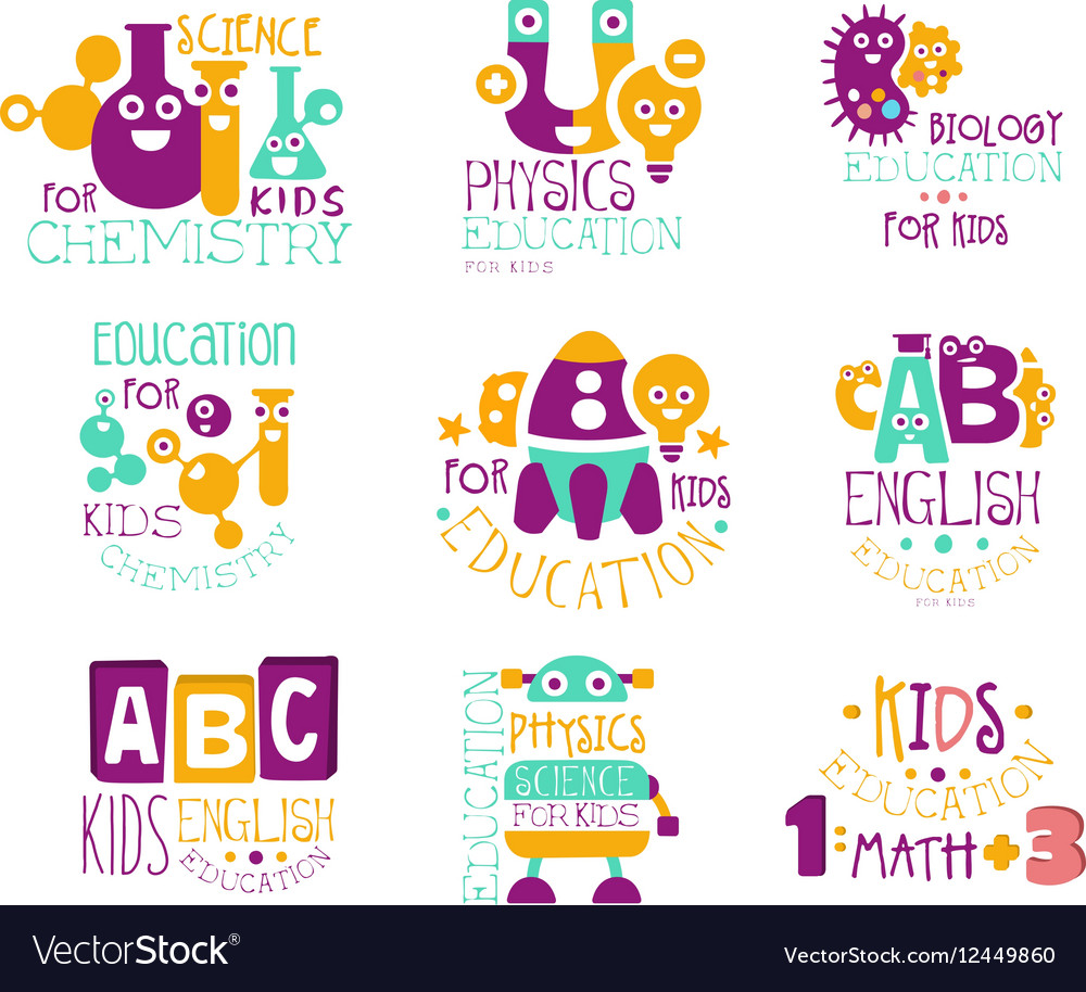 Kids Science Education Extra Curriculum Club Label