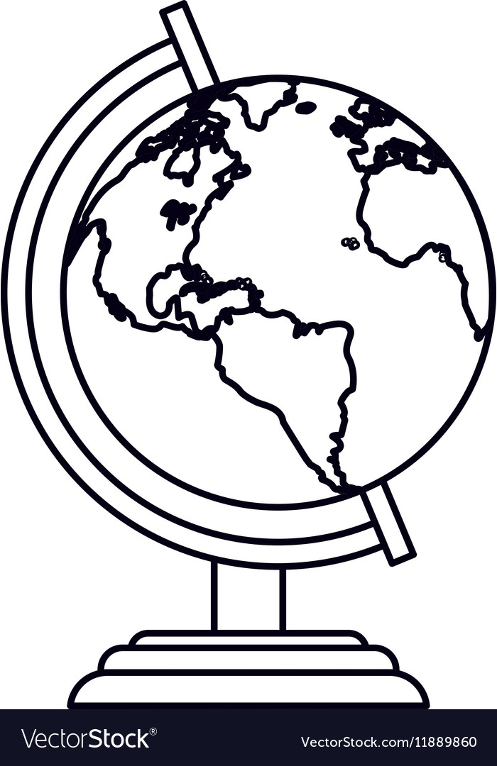 Pictogram globe map world earth business icon