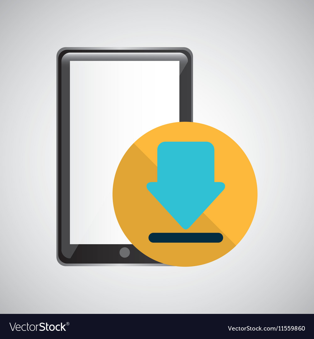 Smartphone black download graphic
