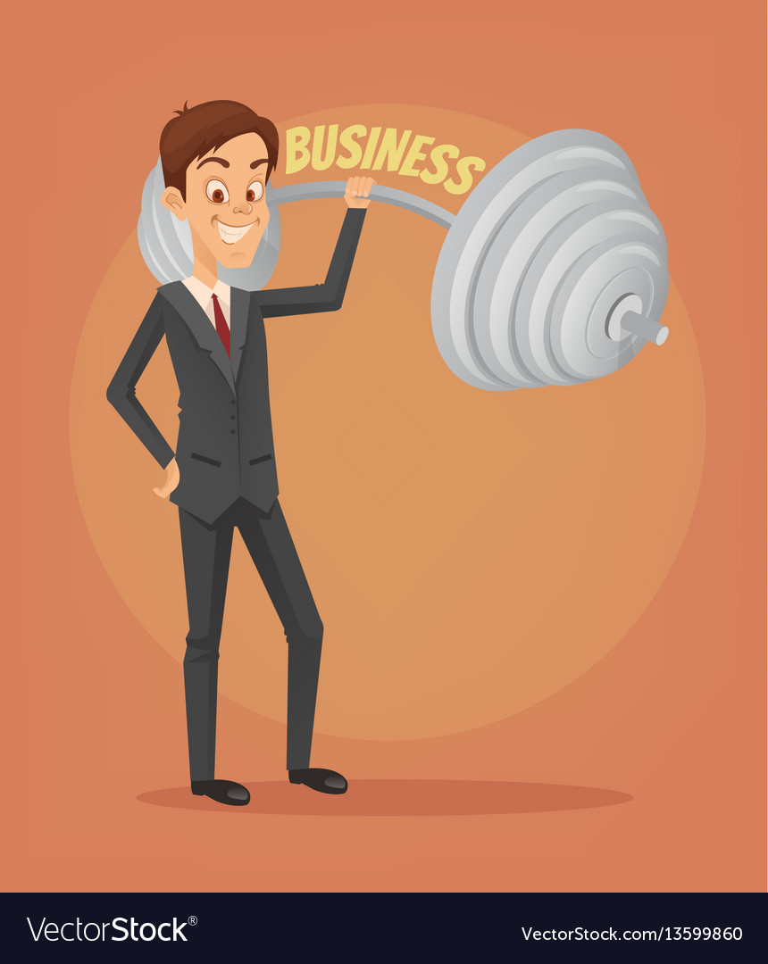 Successful businessman office worker character