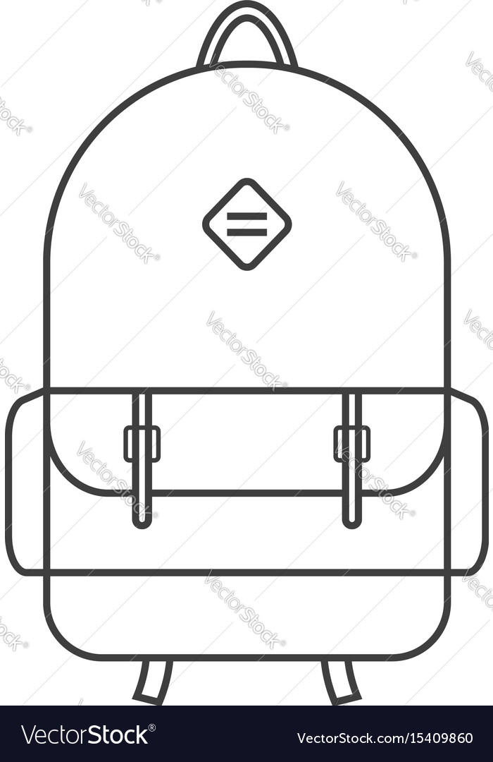 Thin line black backpack icon