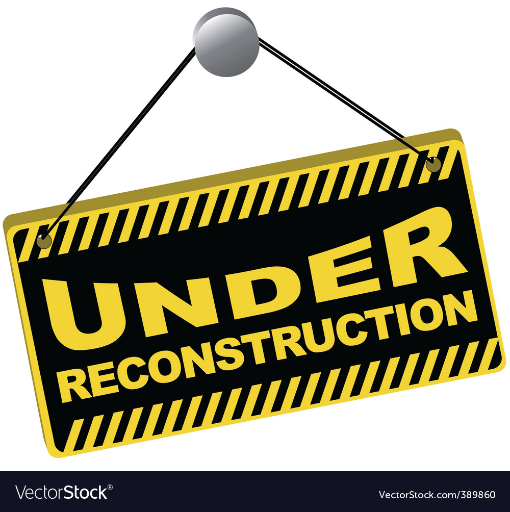 Under reconstruction sign Royalty Free Vector Image