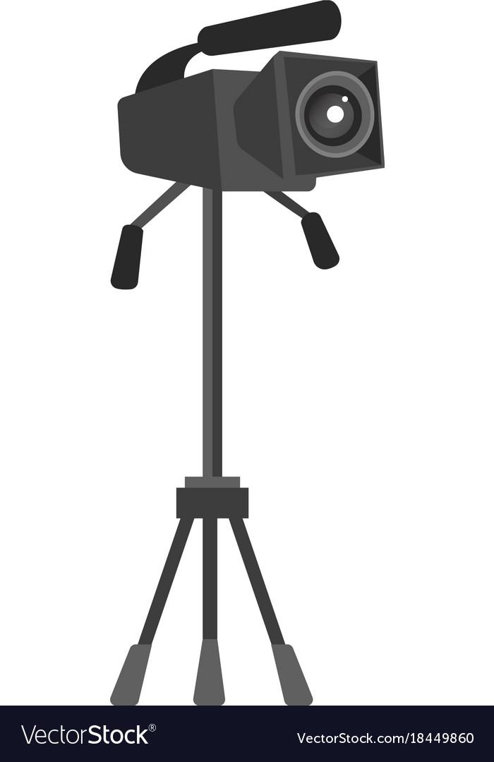 Video camera on the tripod