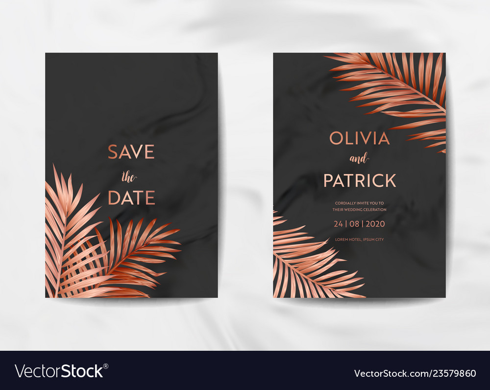 Wedding invitation card template design poster