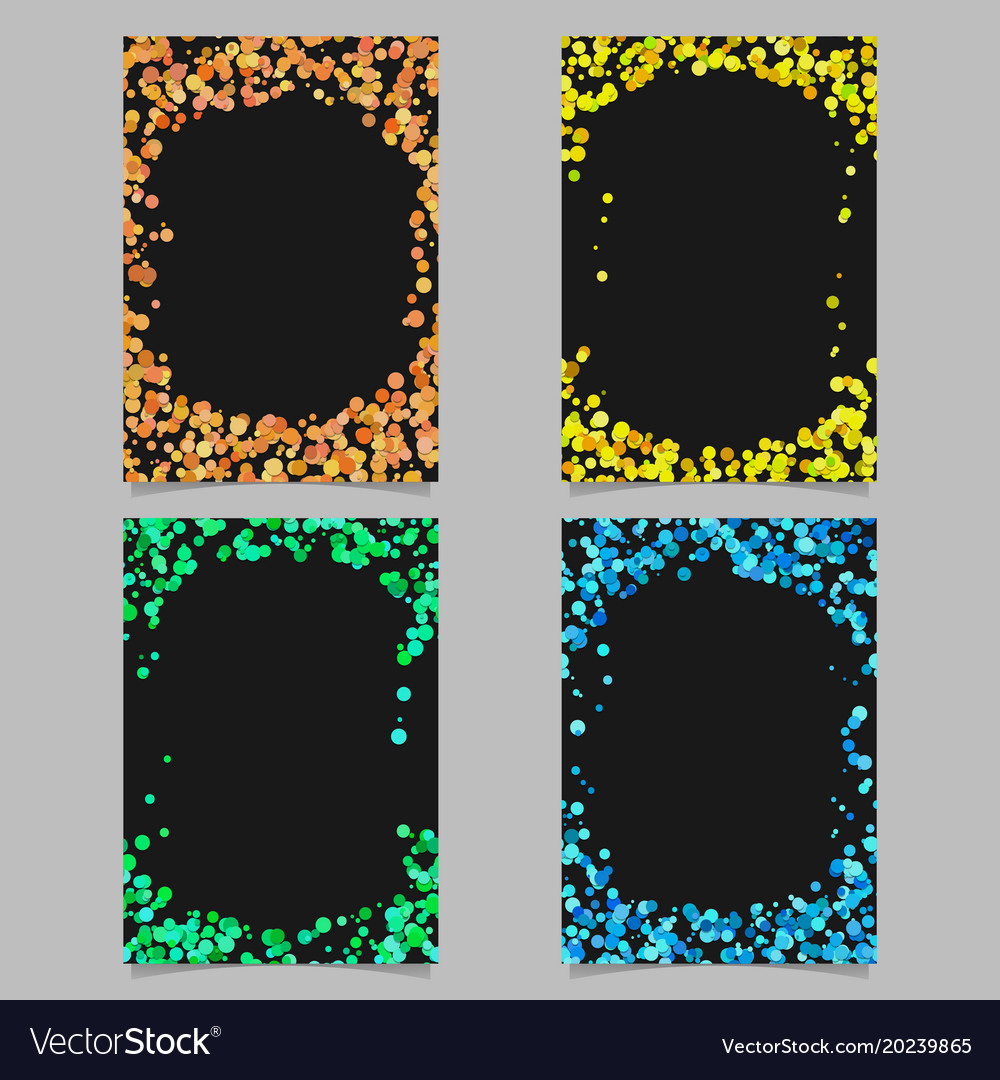 Abstract colored brochure template background set