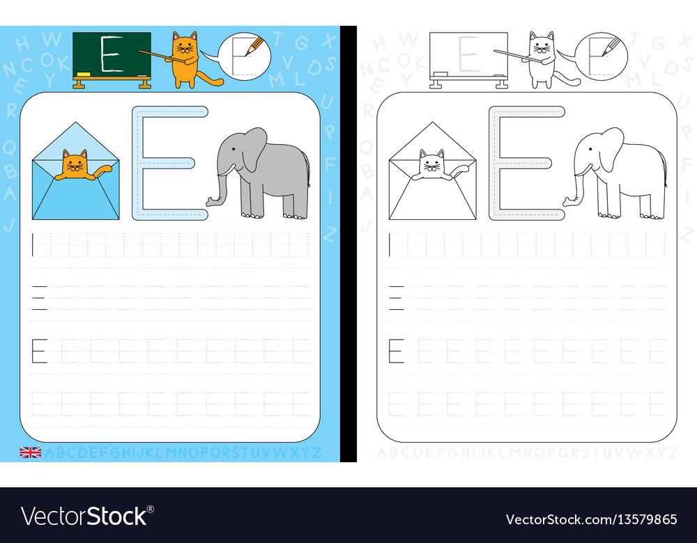 Alphabet tracing worksheet