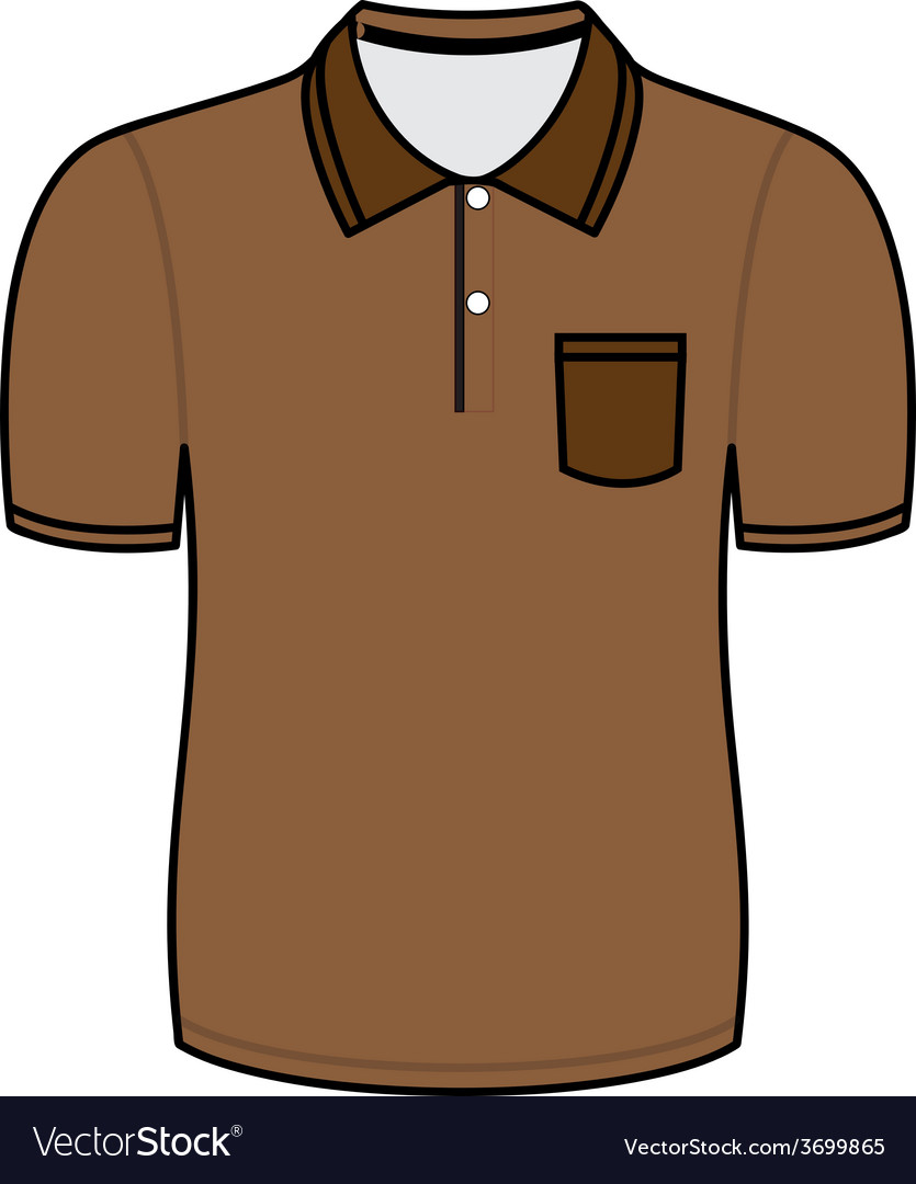 brown polo shirt