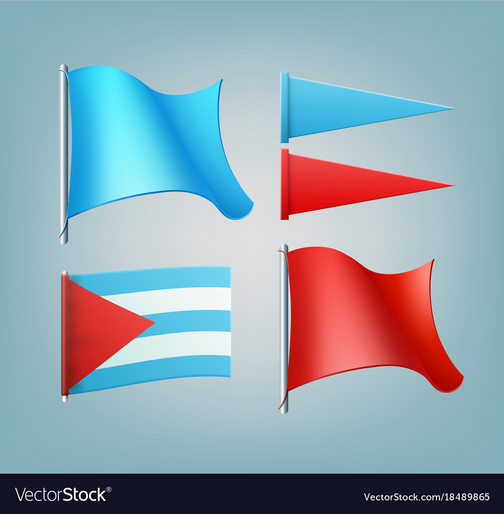Colored flags vector image