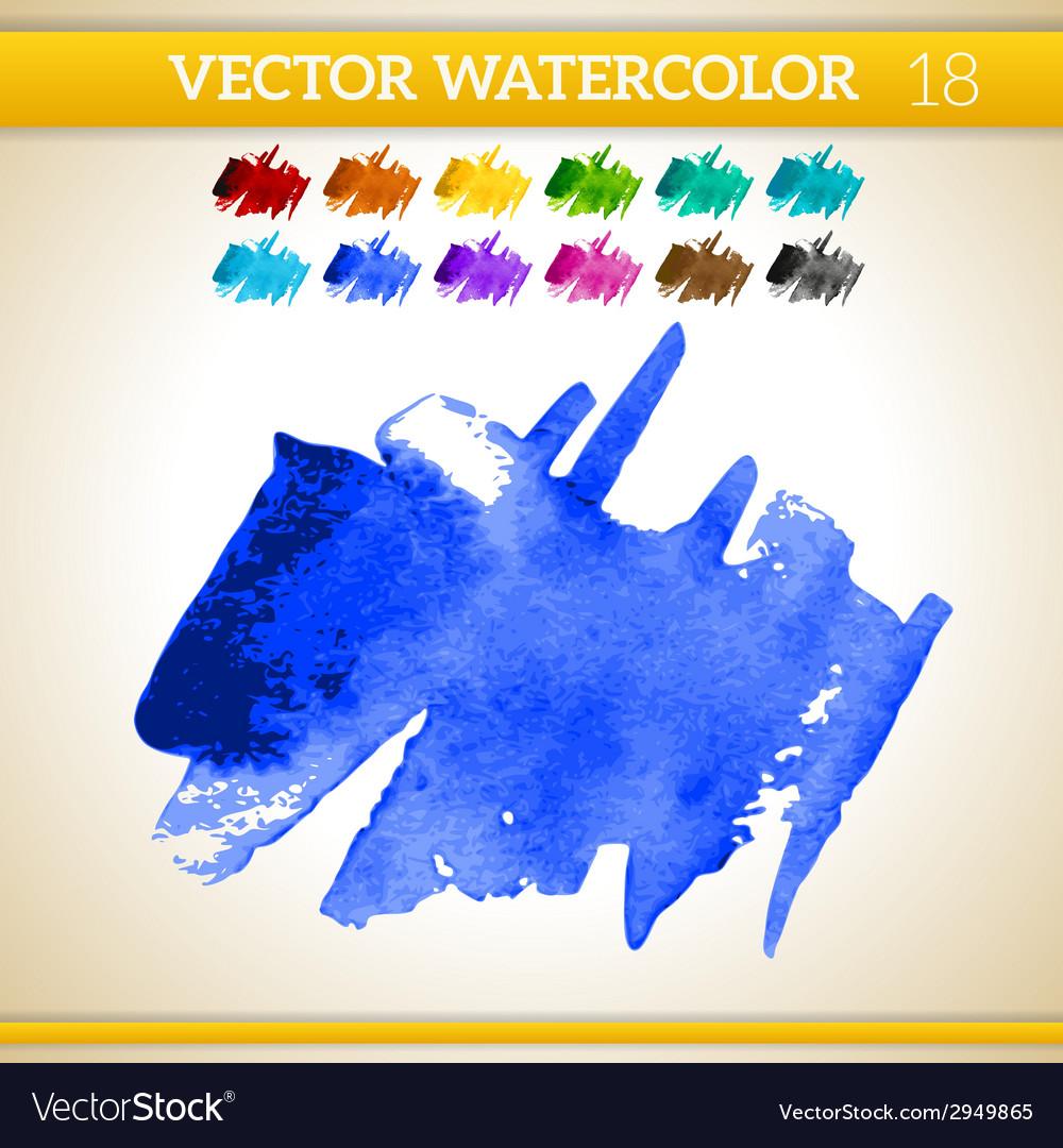 Indigo Watercolor Artistic Splash for Design and
