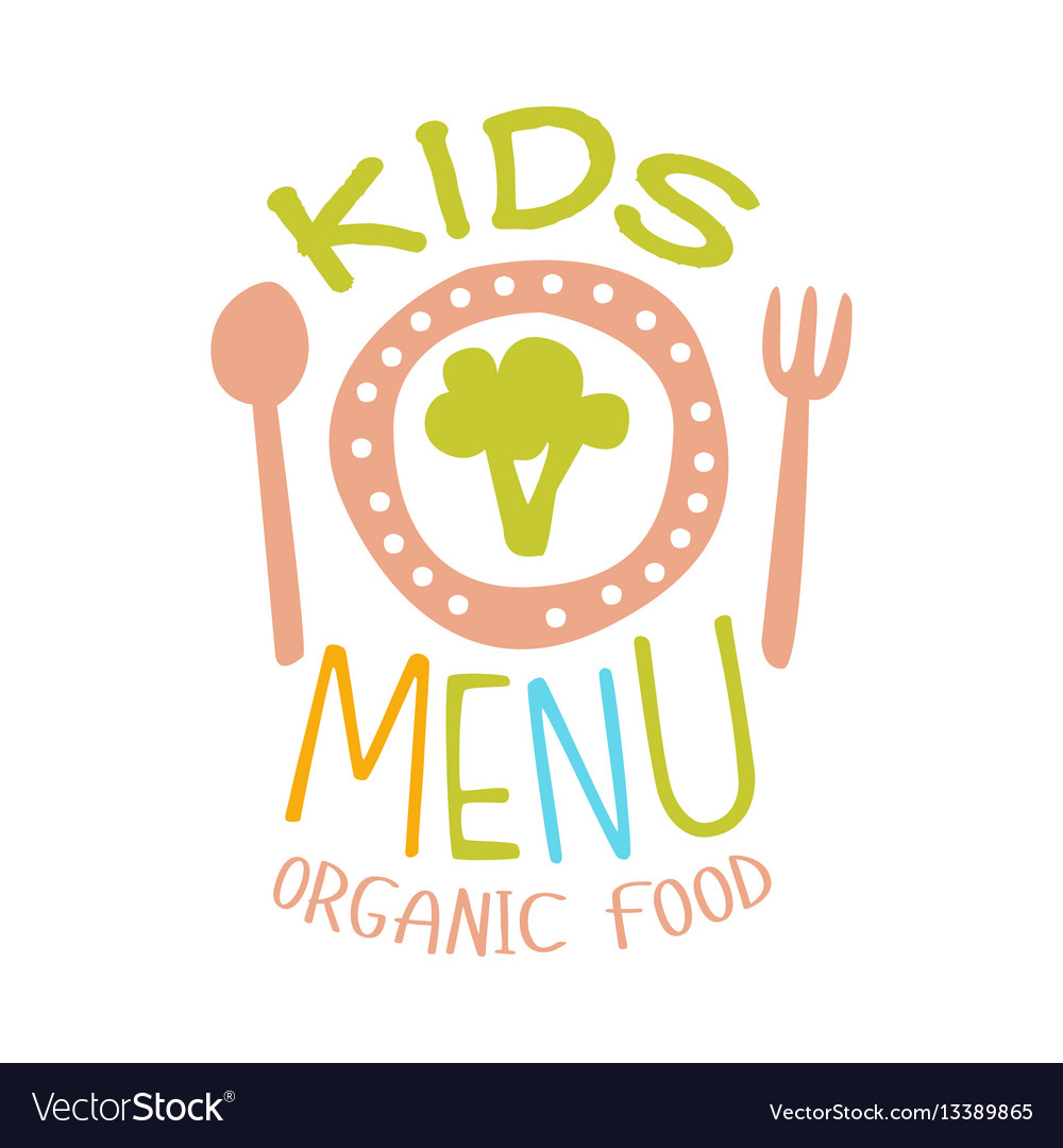 Organic food for kids cafe special menu for vector image