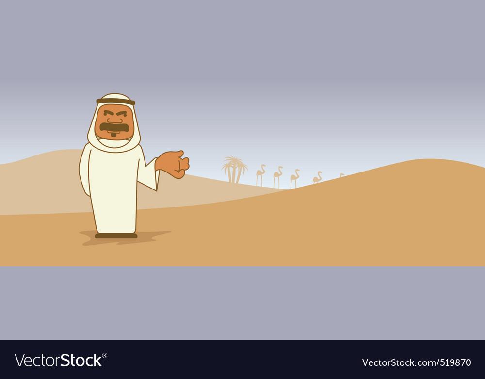 Arab cartoon character vector image
