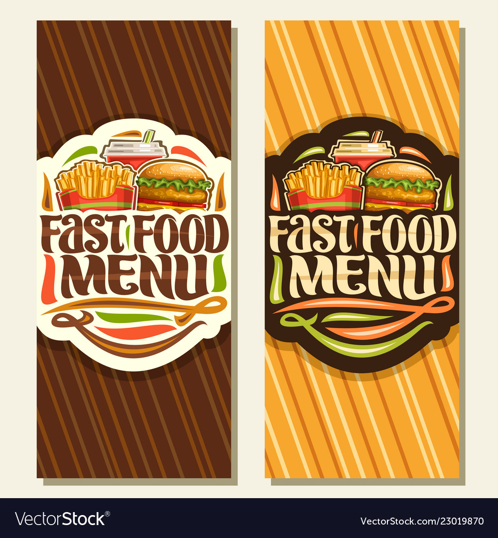 Banners for fast food