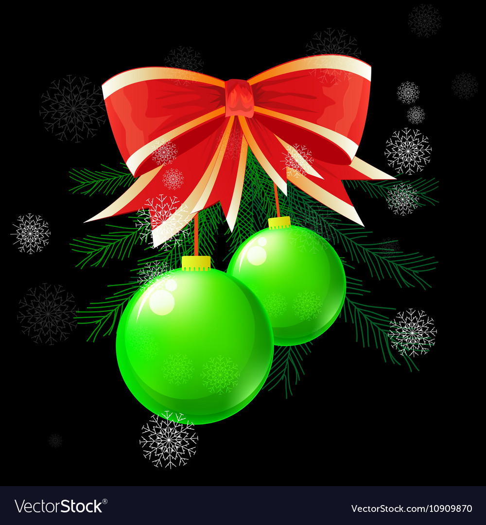 Christmas ball concept vector image