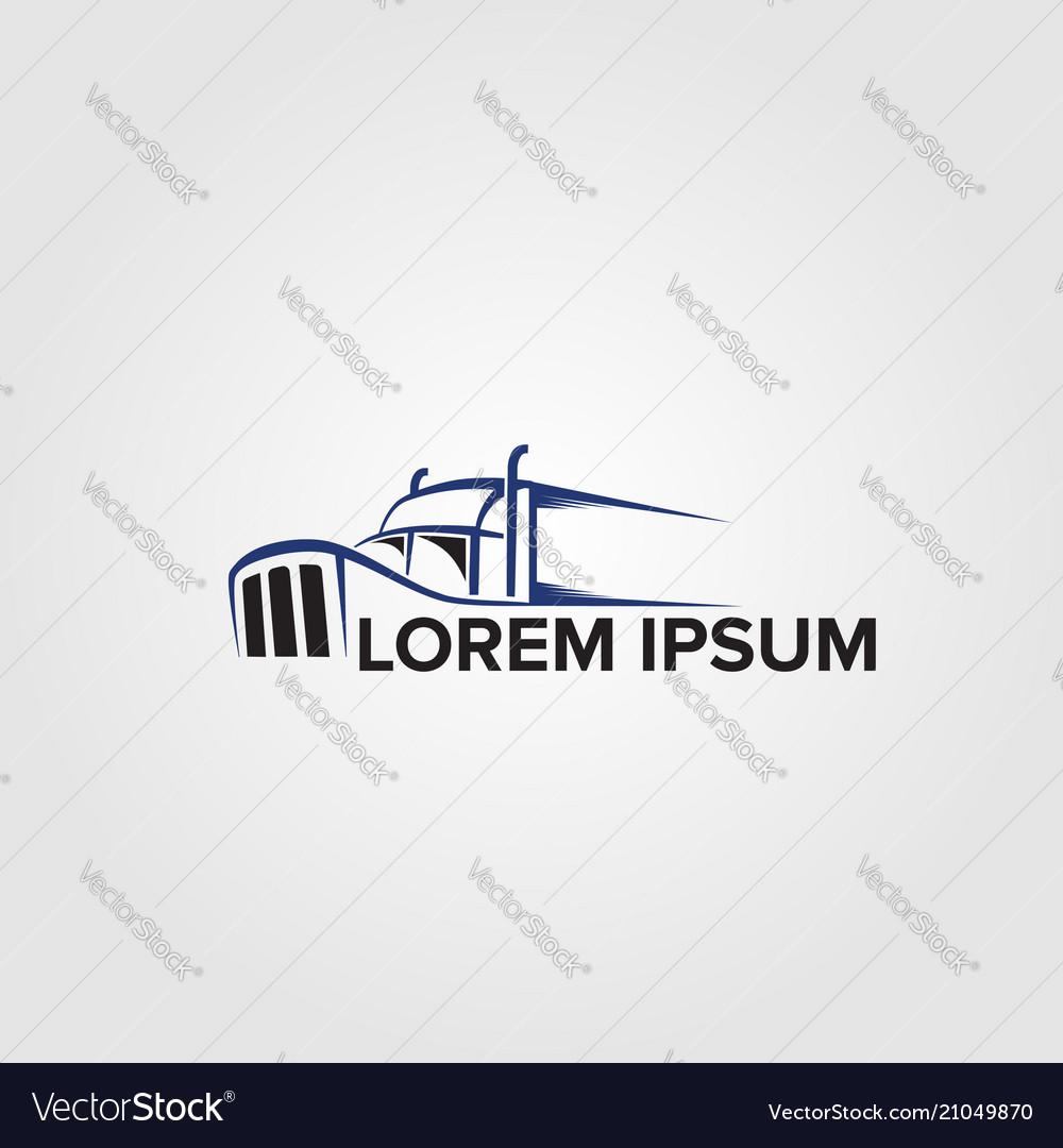 creative trucking logo concept design templates vector image