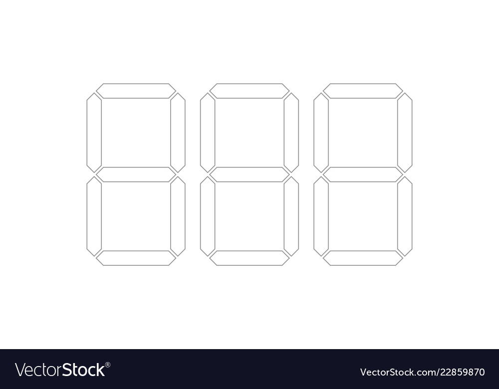 digital price tag template numbers royalty free vector image