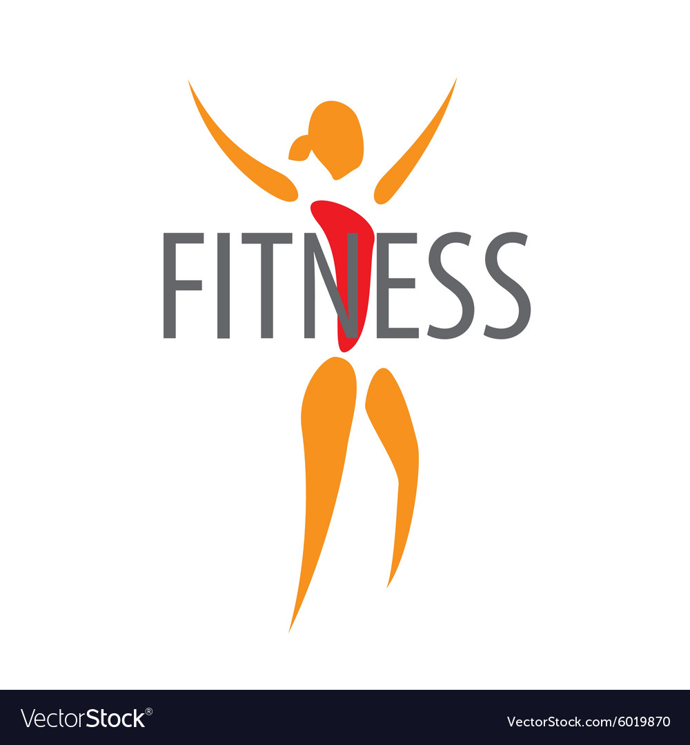 Logo figure of the girl for a fitness club vector image