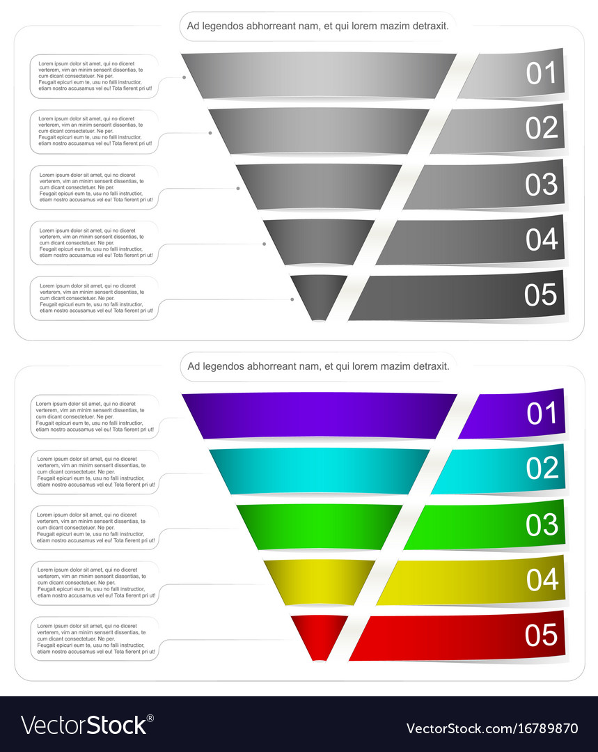 Modern style infographic funnel