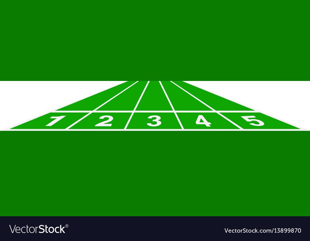 Running track in green design