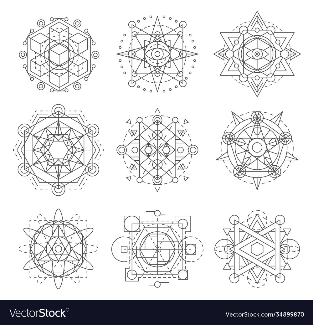 Sacred geometry symbols esoteric astrology