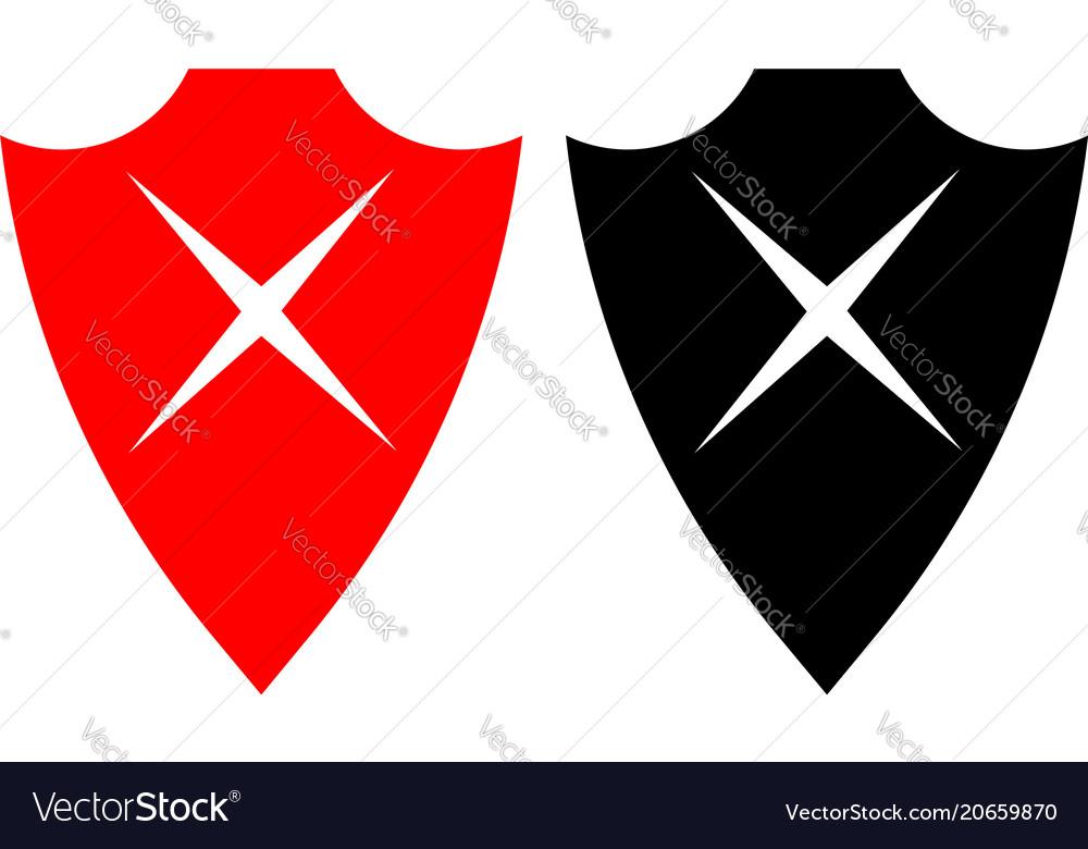 Shield cross icons