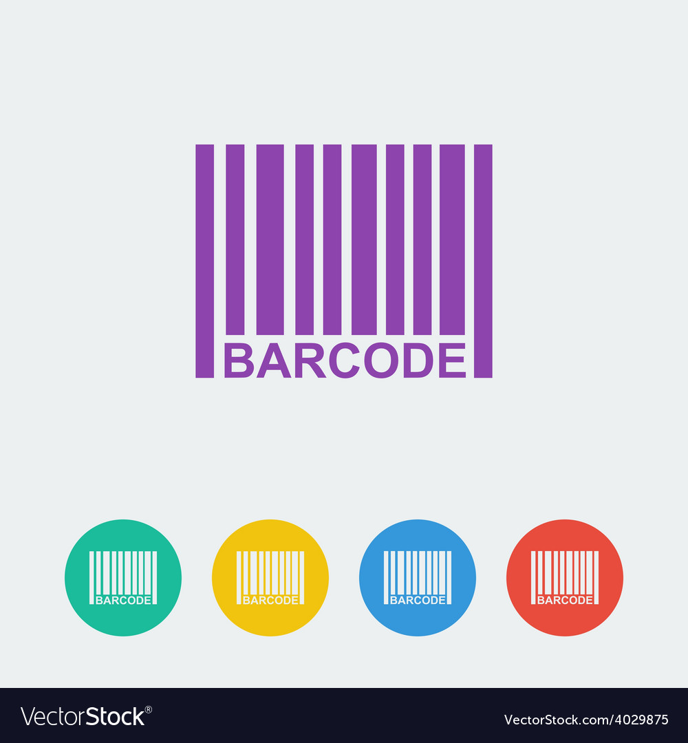 Barcpde flat circle icon