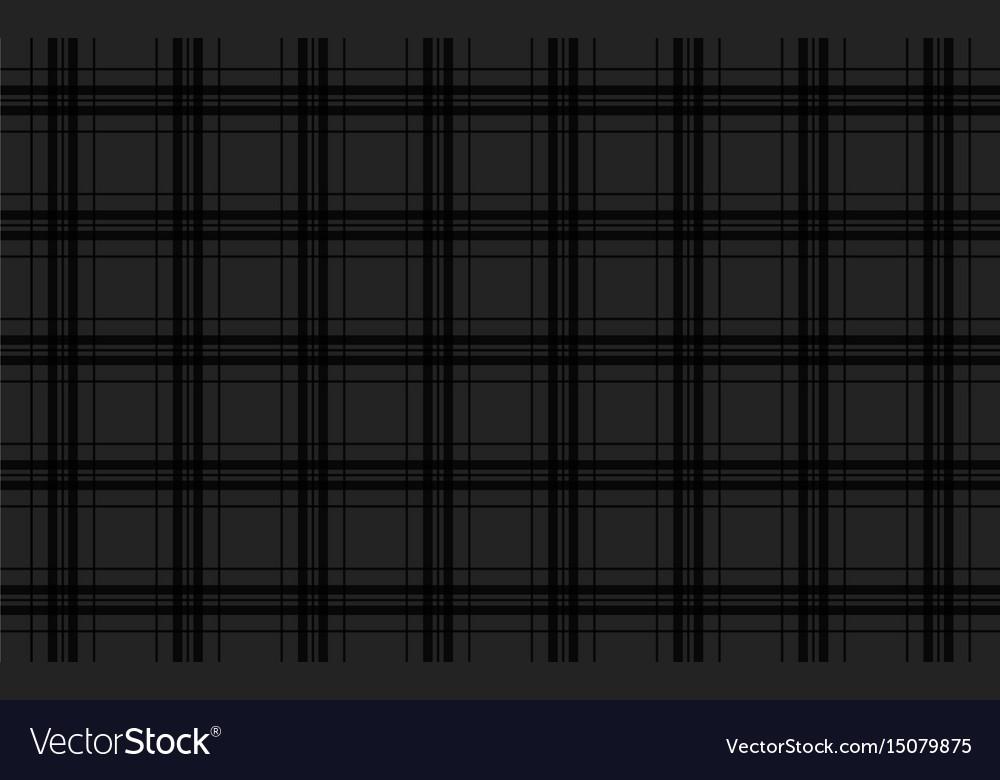 Black abstract background seamless tartan pattern vector image