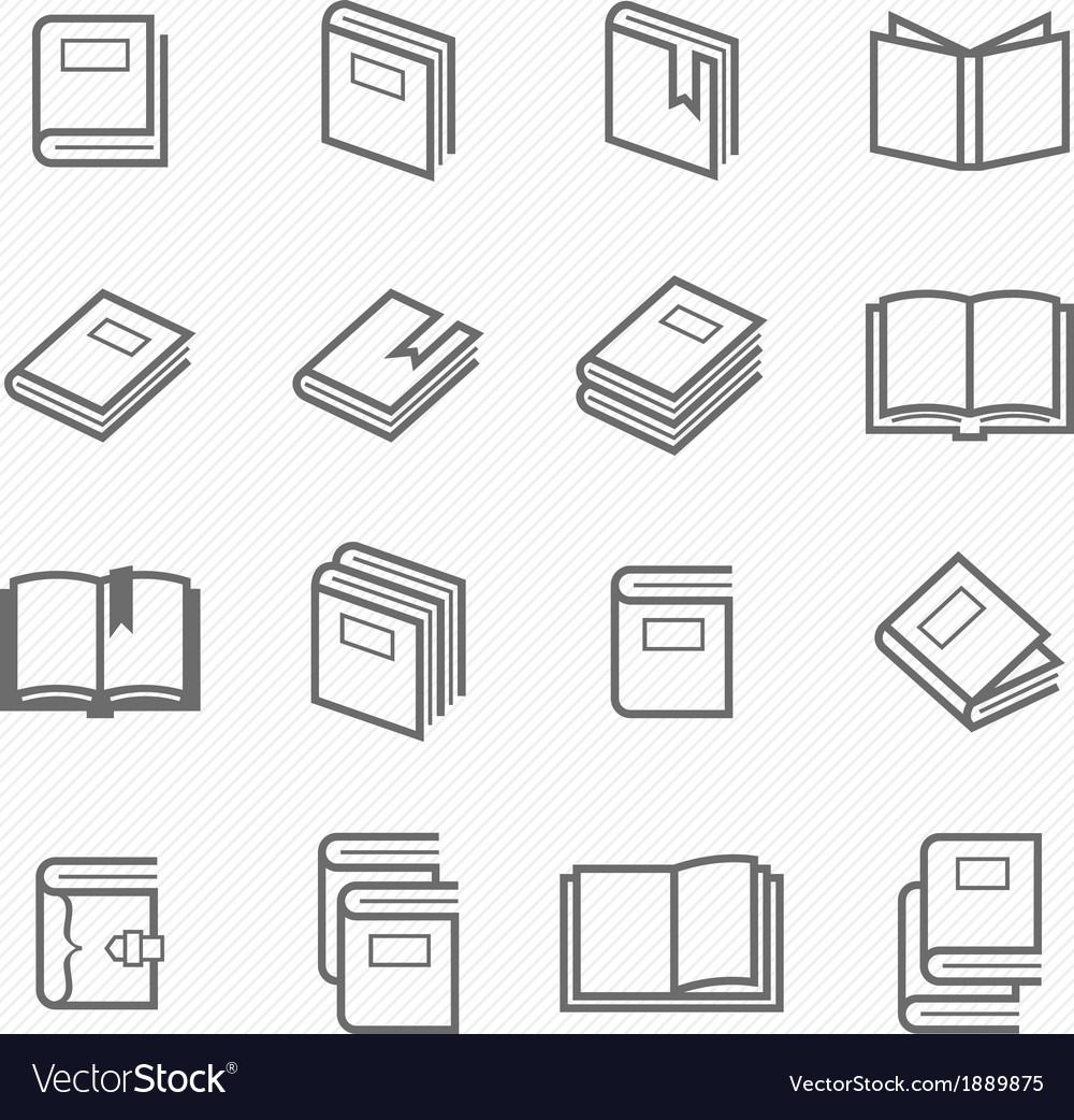 Book outline stroke symbol