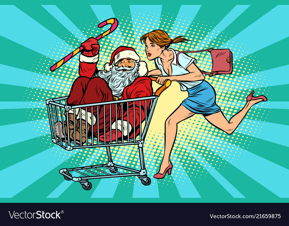 Christmas sale the woman bought santa claus
