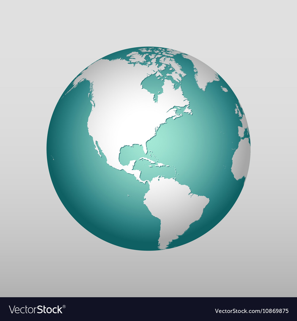 Realistic Earth icon in different colors vector image