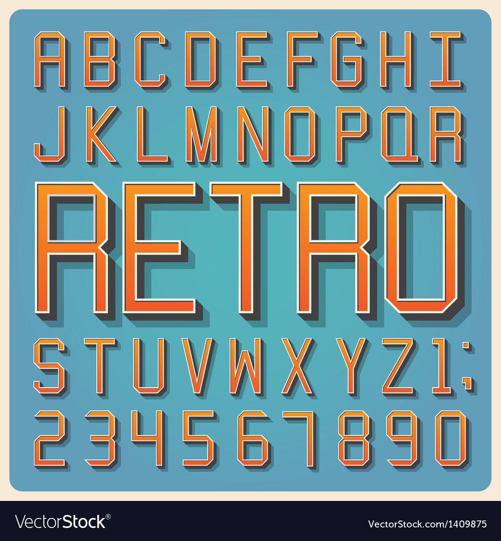 Retro type font vintage typography