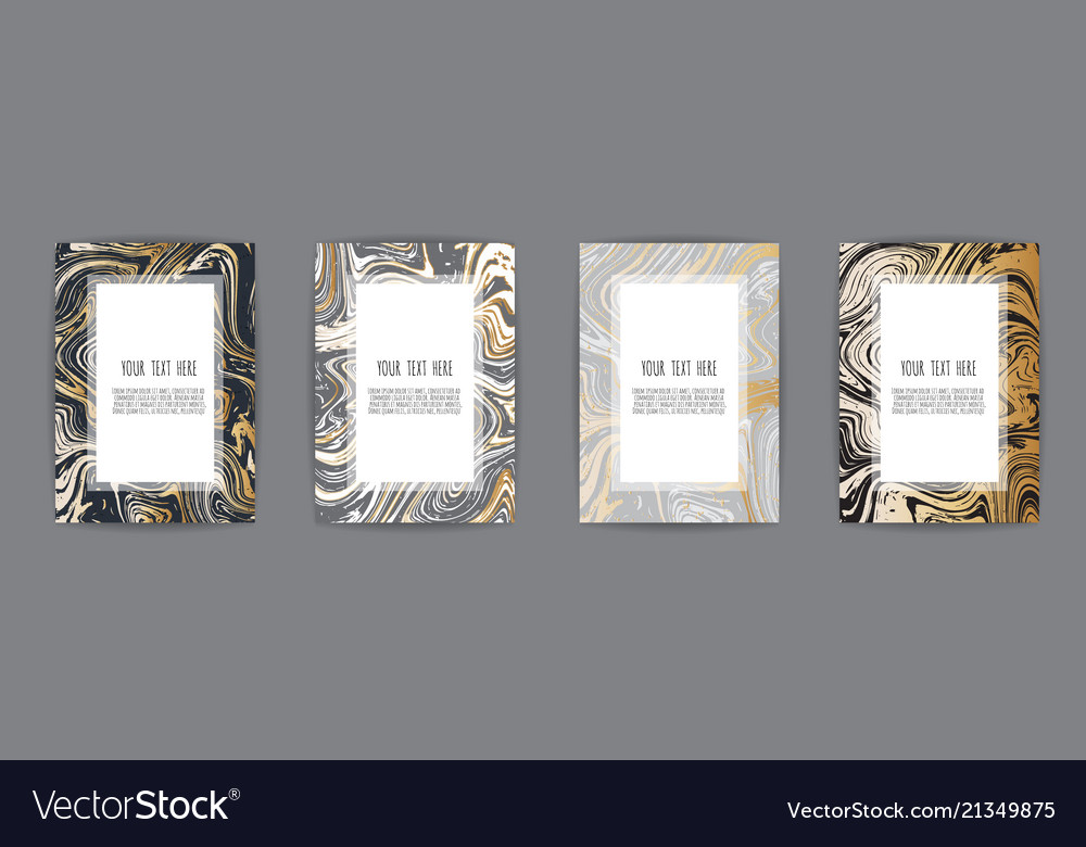 Set of elegant card background black and golden