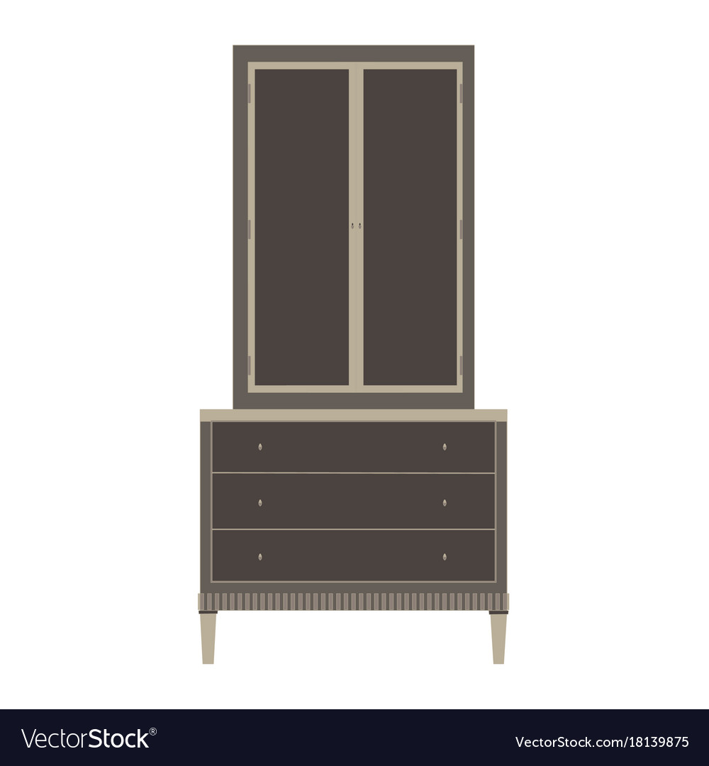 Wardrobe closet cupboard furniture isolated