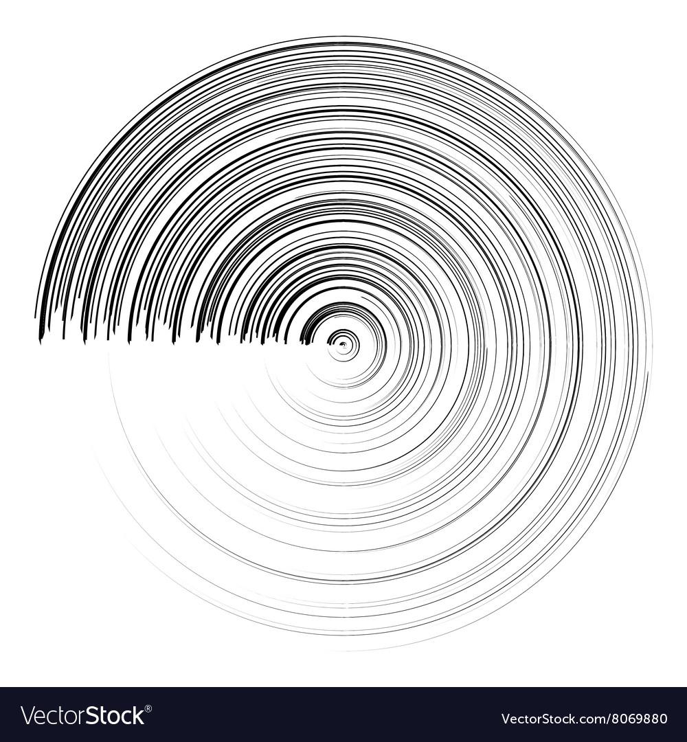 Abstract black round circle brush stroke