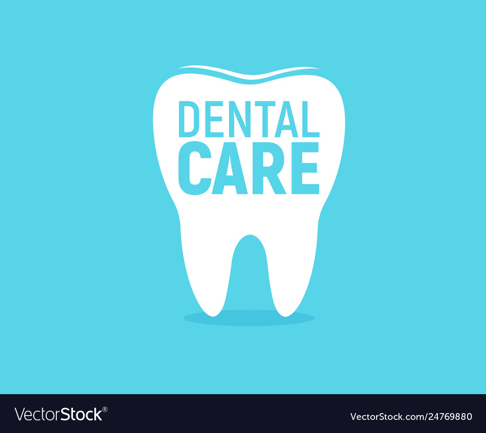 Dental care icon tooth enamel protection flat