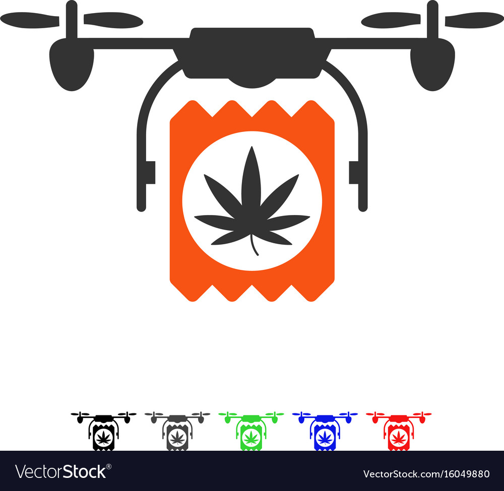 Drugs drone delivery flat icon