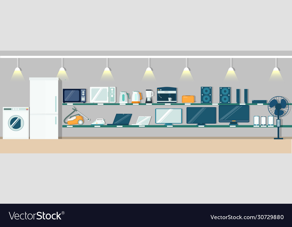 Electronics Store Poster Banner Design Royalty Free Vector
