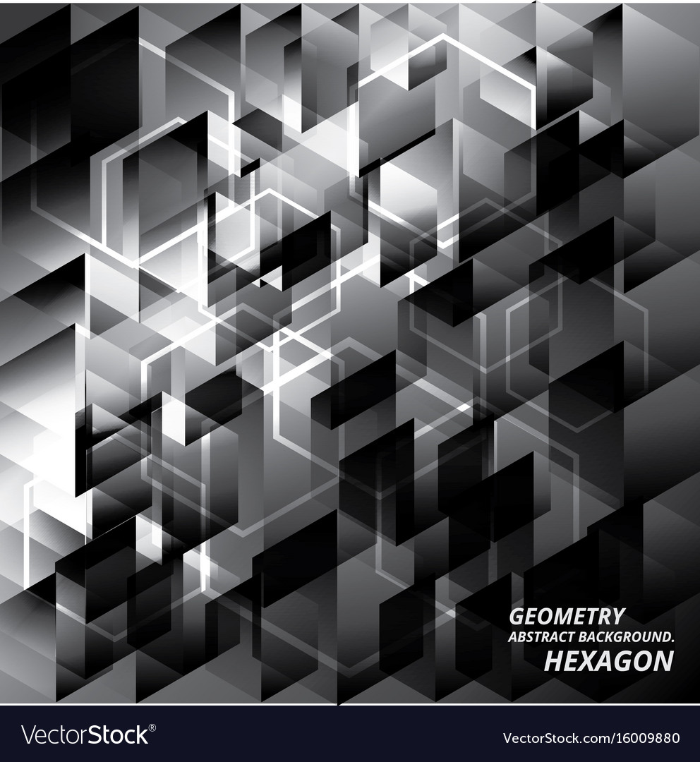 Geometry abstract background pattern hexagon vector image