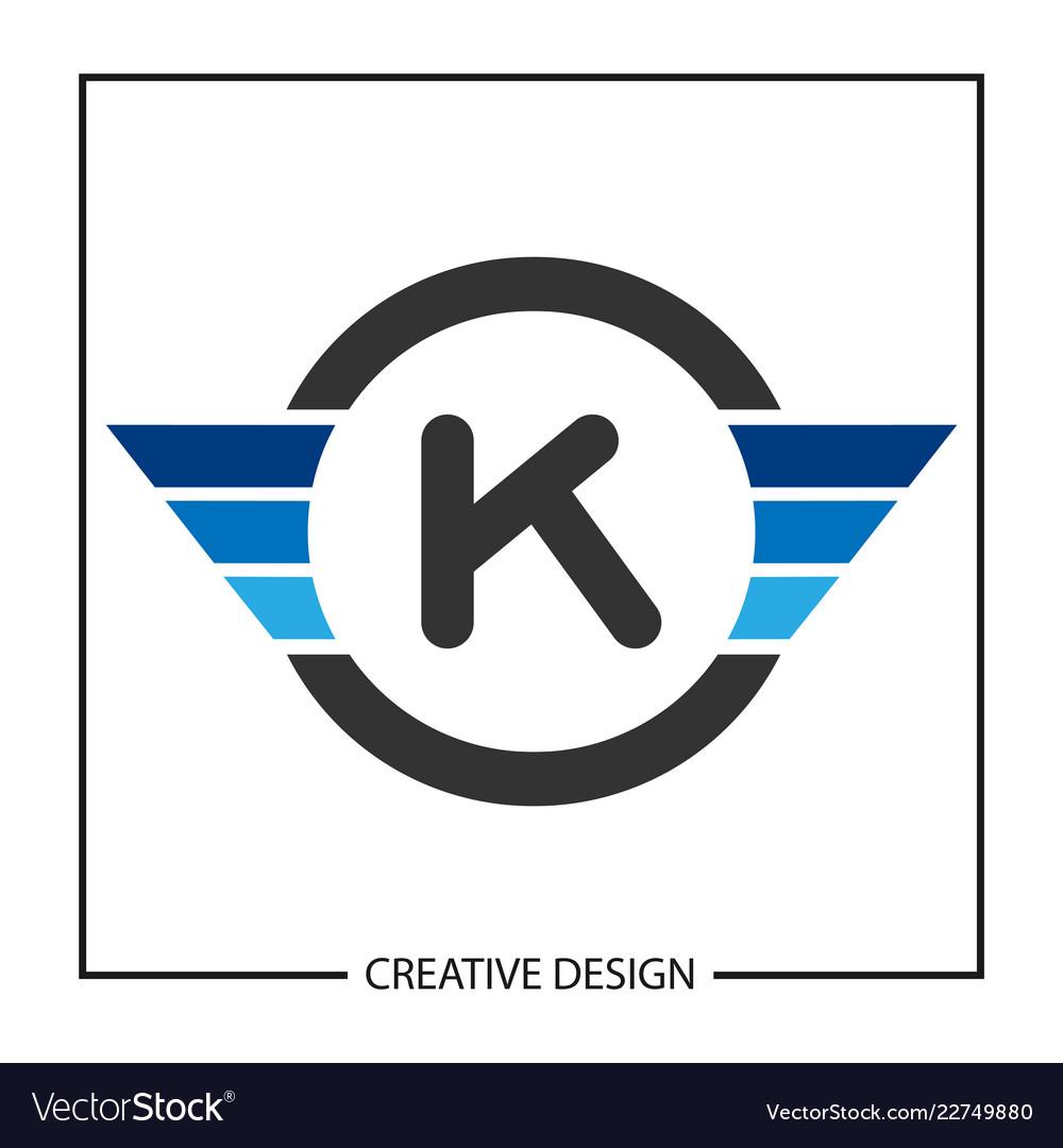 initial letter k logo template design royalty free vector