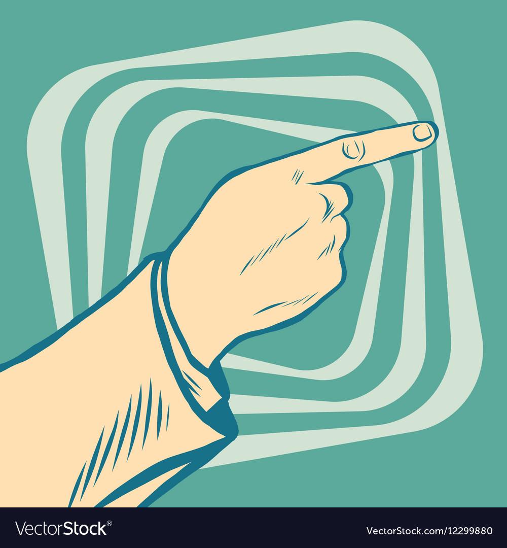 Pop art points the finger vector image